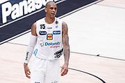 Gomes Joao delusione, EA7 EMPORIO ARMANI OLIMPIA MILANO vs DOLOMITI ENERGIA TRENTINO, gara 1 Finale Play off Lega Basket Serie A 2017/2018, Mediolanum Forum, Assago (MI) 5 giugno 2018 - FOTO: Bertani/Ciamillo