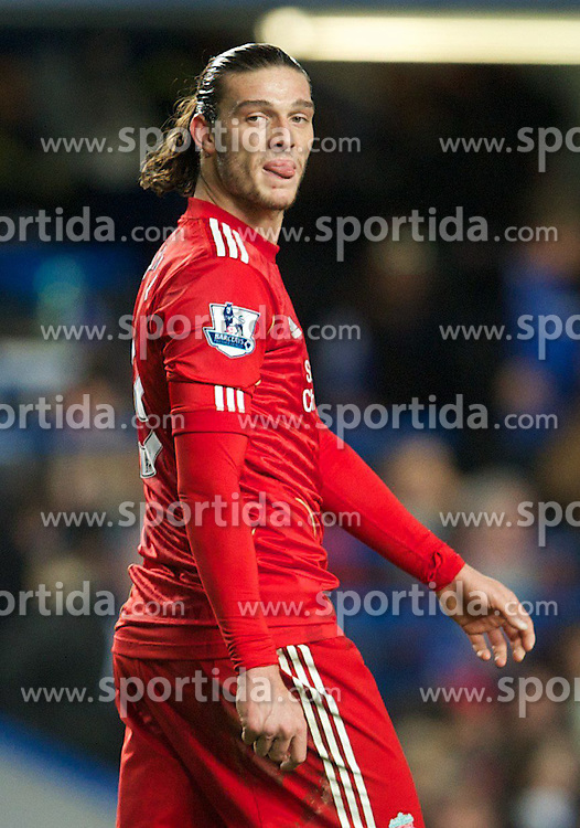 29.11.2011, Stamford Bridge, London, ENG, PL, viertelfinale, FC Liverpool vs Chelsea FC, im Bild Liverpool's Andy Carroll looks dejected as his penalty-kick is saved against Chelsea during the football match of English Football League Cup, Quarter-Final, between FC Liverpool and Chelsea FC at Stamford Bridge Stadium, London, United Kingdom on 2011/11/29. EXPA Pictures © 2011, PhotoCredit: EXPA/ Sportida/ David Rawcliff..***** ATTENTION - OUT OF ENG, GBR, UK *****