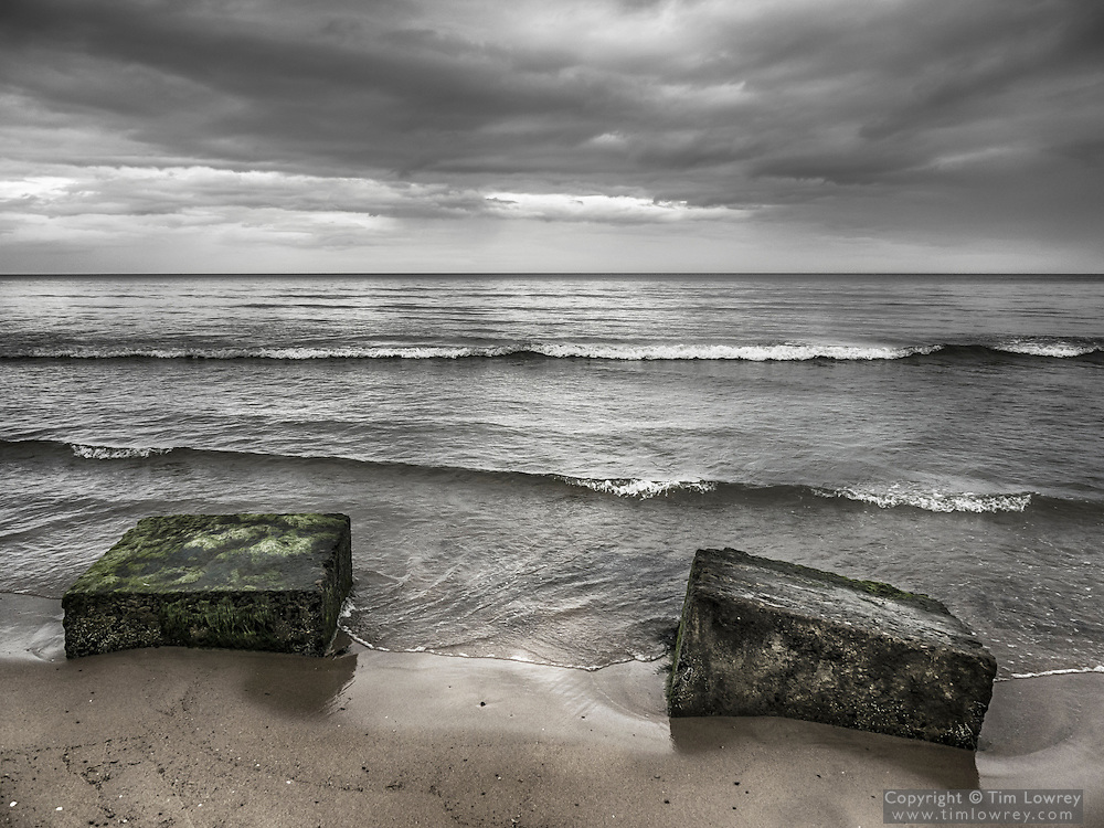 WW2 Concrete Anti Tank Defenses On Warkworth Beach, Northumberland