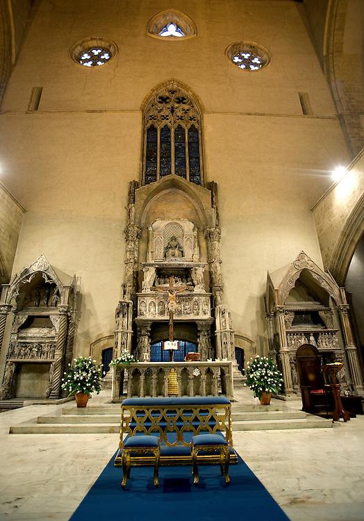 Santa Chiara church in the Spaccanapoli shopping district in Naples.