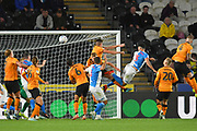 Blackburn Rovers player Derrick Williams (3) scores goal to go 0-1 during the EFL Sky Bet Championship match between Hull City and Blackburn Rovers at the KCOM Stadium, Kingston upon Hull, England on 20 August 2019.