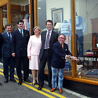 Golf St Andrews shop, a joint venture between the House of Bruar and the R&A, which was officially opened by Ronnie Corbett, pictured from left, Graeme Simmers R&A Captain, James Sugden from Johnstons of Elgin, Patrick Birkbeck MD House of Bruar, Linda Birkbeck and ?????<br />