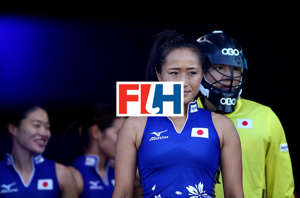 JOHANNESBURG, SOUTH AFRICA - JULY 12:  Shihori Oikawa of Japan looks on from inside the tunnel area during day 3 of the FIH Hockey World League Semi Finals Pool A match between Japan and England at Wits University on July 12, 2017 in Johannesburg, South Africa.  (Photo by Jan Kruger/Getty Images for FIH)