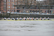 London. UNITED KINGDOM.  Oxford University BC vs German Crew. Varsity Fixture before the 159th BNY Mellon Boat Race on the Championship Course, River Thames, Putney/Mortlake.  Sunday  17/03/2013    [Mandatory Credit. Intersport Images], Oxford from Bow, Patrick Close, Geordie Macleod, Alex Davidson, Sam O'Connor, Paul Bennett, Karl Hudspith, Constantine Louloudis, Malcolm Howard and Cox Oskar Zorrilla. Germany from Bow, Toni Seifert 2012 M4-, Felix Wimberger 2012 U23 M8+, Maximilian Reinelt 2012 M8+, Felix Drahotta 2012 M2-, Anton Braun 2012 M2-, Kristof Wilke 2012 M8+, Richard Schmidt 2012 M8+, Eric Johannesen 2012 M8+ and Cox Martin Sauer 2012 M8+..The Start of the first race.