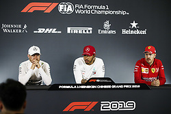 April 14, 2019 - Shanghai, China - Motorsports: FIA Formula One World Championship 2019, Grand Prix of China, ..#77 Valtteri Bottas (FIN, Mercedes AMG Petronas Motorsport), #44 Lewis Hamilton (GBR, Mercedes AMG Petronas Motorsport), #5 Sebastian Vettel (GER, Scuderia Ferrari Mission Winnow) (Credit Image: © Hoch Zwei via ZUMA Wire)