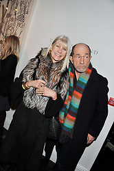 GRETA MORRISON and JAMES SCOTT at a private view of art works by Annie Morris entitled 'There is A Land Called Loss' held at Pertwee Anderson & Gold Gallery, 15 Bateman Street, London W1 on 2nd February 2012.