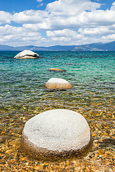 """Boulders at Lake Tahoe 49"" - These boulders and aqua blue waters were photographed at Whale Beach on the East Shore of Lake Tahoe."