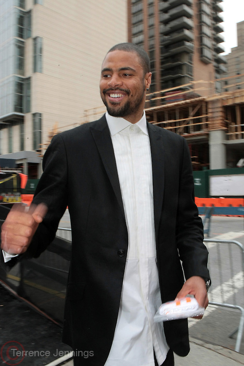 September 6, 2012- New York, New York: Professional Basketball Player Tyson Chandler backstage at 2012 Fashion Week for The ARISE Magazine Icons Fashion Showcase featuring the designs of Ozwald Boateng, Tiffany Amber, Tsemaye Binitie, Maki Oh and Gavin Rajah held at Lincoln Center on September 6, 2012 in New York City. ARISE is Africa's first and foremost international style magazine. Highlighting African achievement in fashion, music, culture and politics, it provides a positive portrayal of the continent and its contribution to contemporary society across the world. (Terrence Jennings)