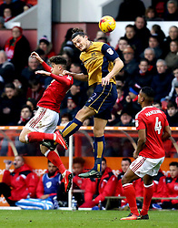 Milan Djuric of Bristol City heads the ball - Mandatory by-line: Robbie Stephenson/JMP - 21/01/2017 - FOOTBALL - The City Ground - Nottingham, England - Nottingham Forest v Bristol City - Sky Bet Championship