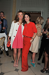 Left to right, HEATHER KERZNER and LARA BOHINC at a VIP dinner hosted by Maserati following the unveiling of the new Maserati 'Quattroporte' at The Hurlingham Club, London on 17th April 2013.