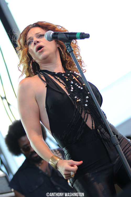 Nikka Costa performs at the Wells Fargo Stage during Artscape 2011 in Baltimore, MD on Saturday, July 16, 2011.