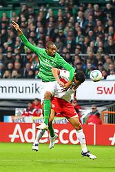 27.11.2011, Weser Stadion, Bremen, GER, 1.FBL, Werder Bremen vs VFB Stuttgart, im Bild Naldo (SV Werder Bremen) und Maza (VfB Stuttgart) beim Kopfballduell // during the Match GER, 1.FBL, Werder Bremen vs VFB Stuttgart, Weser Stadion, Bremen, Germany, on 2011/11/27EXPA Pictures © 2011, PhotoCredit: EXPA/ nph/ SielskiSielski..***** ATTENTION - OUT OF GER, CRO *****