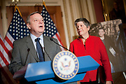 Dec 8, 2010 - Washington, District of Columbia, U.S. - Homeland Security Secretary JANET NAPOLITANO looks on as Senate Assistant Majority Leader DICK DURBIN (D-IL) holds a news conference to urge members of Congress to pass the DREAM Act.(Credit Image: © Pete Marovich/ZUMA Press)