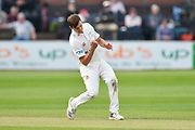 Wicket - Ed Barnard of Worcestershire celebrates taking the final wicket of Tim Groenewald of Somerset to finish with figures of 6-37 and 11 wickets in the match during the Specsavers County Champ Div 1 match between Somerset County Cricket Club and Worcestershire County Cricket Club at the Cooper Associates County Ground, Taunton, United Kingdom on 22 April 2018. Picture by Graham Hunt.
