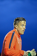 York GK Michael Ingham during the Pre-Season Friendly match between York City and Newcastle United at Bootham Crescent, York, England on 29 July 2015. Photo by Simon Davies.