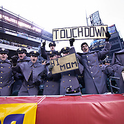 Army fans late in the 2nd quarter at Lincoln Financial Field in Philadelphia Pennsylvania.