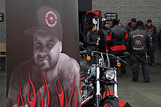 Auckland-Memorial ride for Connor Morris, to Headhunters HQ