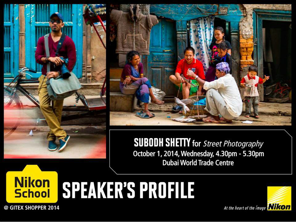 4 years back, at GITEX 2010, I got my very first DSLR - Nikon D3100 and took my baby steps into photography. 4 years later I feel privileged and honoured to be presenting a seminar for Nikon on Street &amp; People Photography at Gitex Shopper 2014. Details here : http://tinyurl.com/os8yxbz <br />