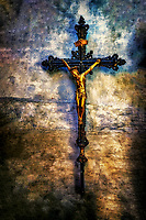 """Ancient Crucifix on the wall of the Basilica of Santa Maria Gloriosa dei Frari - Venice""..."