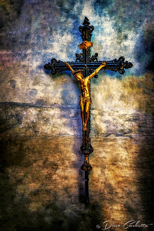 """Ancient Crucifix on the wall of the Basilica of Santa Maria Gloriosa dei Frari - Venice""...<br />