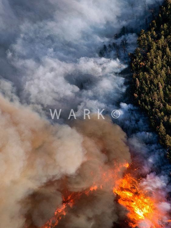 Forest fire smoke and flames. East Peak fire near Walsenburg, Colorado. June 2013.   89342