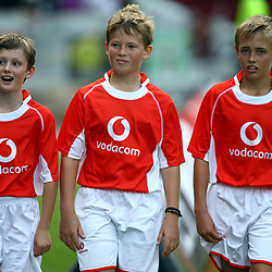 DURBAN, SOUTH AFRICA - APRIL 04: Ball boys during the Super Rugby match between Cell C Sharks and Crusaders at Growthpoint Kings Park on April 04, 2015 in Durban, South Africa. (Photo by Steve Haag/Gallo Images)
