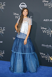 Storm Reid at the Los Angeles premiere of 'A Wrinkle In Time' held at the El Capitan Theater in Hollywood, USA on February 26, 2018.