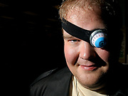 """Dressed as the character Alistor """"Mad-Eye"""" Moody, Todd Ellis, 28, poses for a portrait at Border's Books and Music, 1101 South Hover Road, during a release party for J.K. Rowling's """"Harry Potter and the Deathly Hallows"""", July 20, 2007.  The seventh and final installment of the popular book series went on sale at midnight.  (Daily Times-Call, Bradley Wakoff)"""