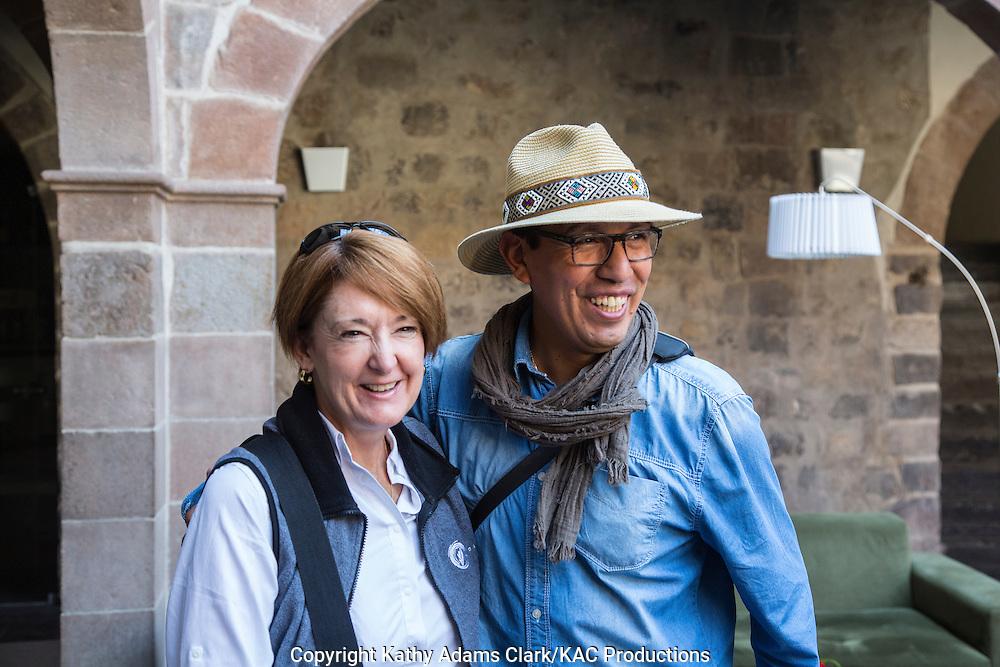 Kathy Adams Clark and Marcial Cruz; Cusco; Peru;