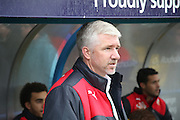 Martin Ling during the The FA Cup match between Rochdale and Swindon Town at Spotland, Rochdale, England on 7 November 2015. Photo by Daniel Youngs.