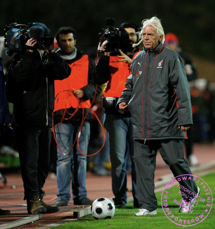 06/02/2008 LARNACA.POLAND v CZECH REPUBLIC.FOOTBALL.INTERNATIONAL FRIENDLY.POLAND COACH LEO BEENHAKKER ..FOT. PIOTR HAWALEJ / WROFOTO