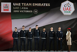 February 23, 2019 - Abu Dhabi, United Arab Emirates - UAE Team Emurates from UAE, during the Team Presentation, at the opening ceremony of the 1st UAE Tour, inside Louvre Abu Dhabi museum..On Saturday, February 23, 2019, Abu Dhabi, United Arab Emirates. (Credit Image: © Artur Widak/NurPhoto via ZUMA Press)
