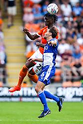 Armand Gnanduillet of Blackpool challenges Edward Upson of Bristol Rovers - Mandatory by-line: Robbie Stephenson/JMP - 03/08/2019 - FOOTBALL - Bloomfield Road - Blackpool, England - Blackpool v Bristol Rovers - Sky Bet League One