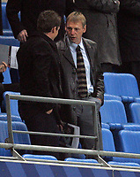 Photo: Paul Thomas/Sportsbeat Images.<br /> Manchester City v Sunderland. The FA Barclays Premiership. 05/11/2007.<br /> <br /> England Under 21 manager and Ex-City manager Stuart Pearce (R) in the crowd before kick-off.