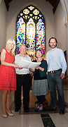 Pictured at the launch of Midsummer Melodies, a concert of choral music with Marine Institute singers, SSE Airs taking place in the Augustinian Church Galway on June 11th. Proceeds to COPE Galway were Carmel Dooley director Marine Institute Singers, Fr John Hughes, Margot Cronin and John Crowley SSE. Photo:Andrew Downes, xposure.