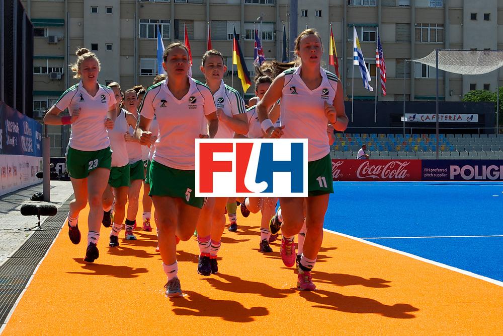 RIO 2016 Olympic qualification, Hockey, Women, quarterfinal, Ireland vs China : team Ireland during training
