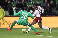 Goal Metz - 3e but Modibo MAIGA - 04.04.2015 - Metz / Toulouse - 31eme journee de Ligue 1 <br />Photo : Fred Marvaux / Icon Sport