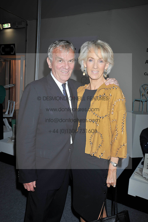 LORD EVANS and JOANNA TROLLOPE at the Moet Hennessy Pavilion of Art & Design London Prize 2009 held in Berkeley Square, London on 12th October 2009.