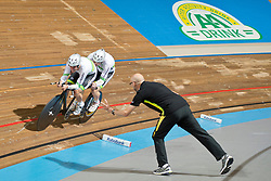 LINDORES Bryce Pilot:  JAMIESON Mark, AUS, Tandem 4km Pursuit Qualifiers , 2015 UCI Para-Cycling Track World Championships, Apeldoorn, Netherlands