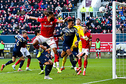 Ashley Williams of Bristol City can't quite connect with Josh Brownhill's corner - Rogan/JMP - 18/01/2020 - Ashton Gate Stadium - Bristol, England - Bristol City v Barnsley - Sky Bet Championship.