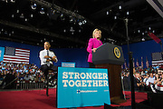 President Barack Obama and Hillary Clinton made their first public appearance together since Clinton won the democratic party's nomination at the Charlotte Convention Center.