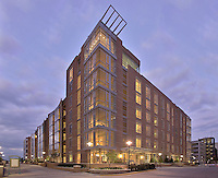 Apartment Building Mid Town Reston Lofts in VA photo by Architecture Photographer Jeffrey Sauers of Commerial Photographics