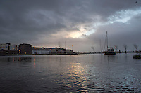 06/01/2014. The Claddagh basin just after dawn at full tide on Monday Morning. Photo:Andrew Downes