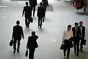 businessmen on their way to meetings