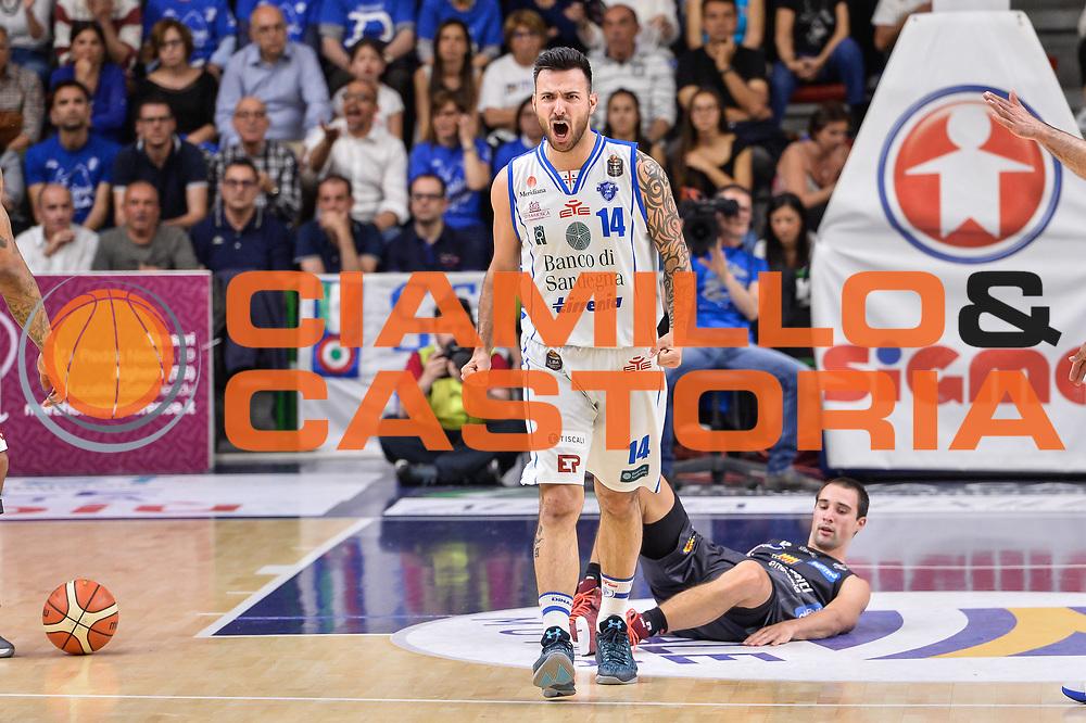 Brian Sacchetti<br /> Banco di Sardegna Dinamo Sassari - Dolomiti Energia Aquila Basket Trento<br /> Legabasket Serie A LBA Poste Mobile 2016/2017<br /> Playoff Quarti Gara3<br /> Sassari 16/05/2017<br /> Foto Ciamillo-Castoria