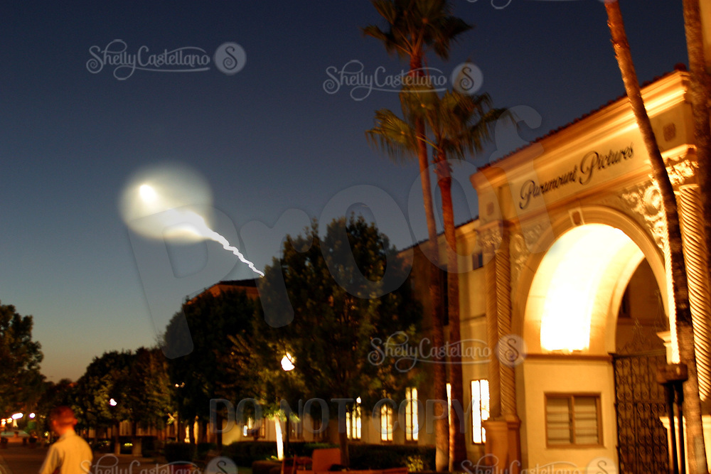 Sep 19, 2002; Hollywood, CA, USA; Rocket launched from Vandenburg Air Force base outside of Lompoc emits gasses into the atmosphere in the skies of Southern California. This site alarmed CA residents due to the threat of nuclear attacks on the US. Thousands of phone calls were made to the media with concern. This was seen from San Diego to Santa Barbara. <br />Mandatory Credit: Photo by Shelly Castellano/ZUMA PRESS.<br />(&copy;) Copyright 2002 by Shelly Castellano