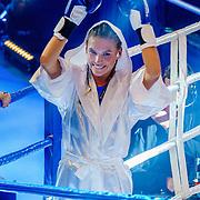 NLD/Amsterdam/20181031 - Boxingstars 2018, 1e aflevering, opkomst van Jessie Jazz Vuijk