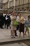 Paula Reed. Christian Dior couture show. Ecole Nationale Superiore des Beaux- Arts. Paris. 7 July 2001. © Copyright Photograph by Dafydd Jones 66 Stockwell Park Rd. London SW9 0DA Tel 020 7733 0108 www.dafjones.com