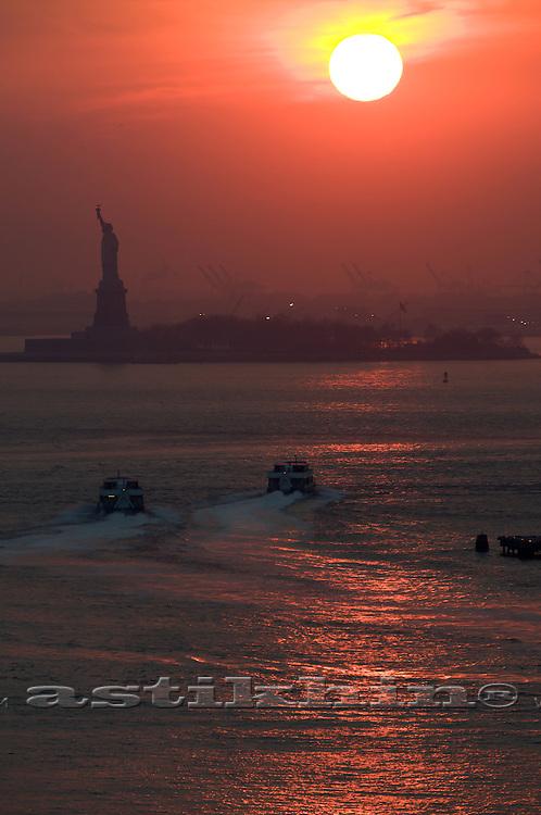 Sunset in Upper New York Bay