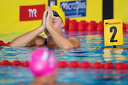 August 5, 2018 - Glasgow, UNITED KINGDOM - 180805 Sophie Hansson of Sweden look dejected after competing in the final of women's 100 meter breaststroke swimming during the European Championships on August 5, 2018 in Glasgow..Photo: Joel Marklund / BILDBYRN / kod JM / 87767 (Credit Image: © Joel Marklund/Bildbyran via ZUMA Press)
